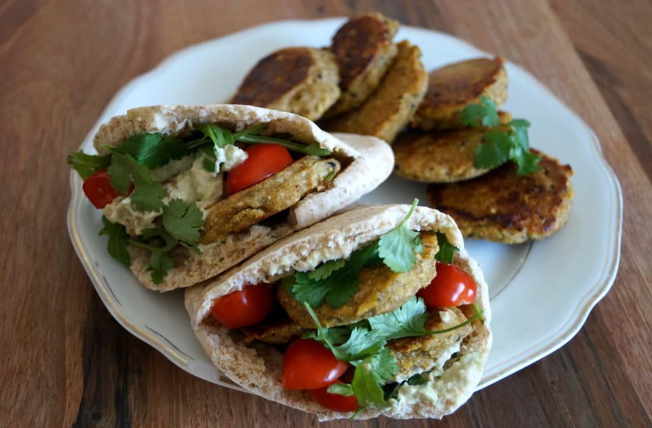 Vegan Blog Pita Taschen Mit Falafel